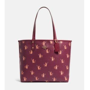 TEST Coach F80232 Reversible City Tote Party Cat